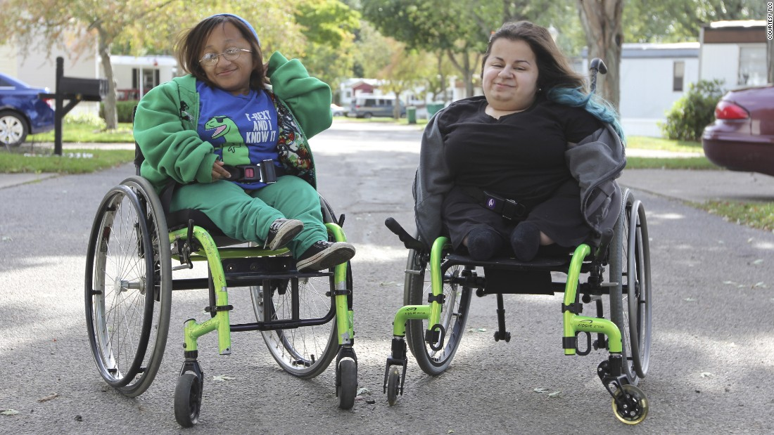 "Tiffany, 21, left, and Destiny, 21, have <a href=""https://www.genome.gov/25521839"" target=""_blank"">osteogenesis imperfecta</a>, a group of rare disorders affecting the connective tissue and characterized by extremely fragile bones that break or fracture easily (brittle bones), often without apparent cause, <a href=""http://rarediseases.org/rare-diseases/osteogenesis-imperfecta/"" target=""_blank"">according to the National Organization for Rare Disorders</a>. The specific symptoms and physical findings associated with OI vary greatly from case to case. The severity of osteogenesis imperfecta also varies greatly, even among individuals of the same family. OI may be a mild disorder, or may result in severe complications."
