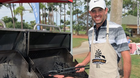 2011 Masters champion Charl Schwartzel served up a traditional South African 'Braai' or barbeque for the past champions at Augusta.
