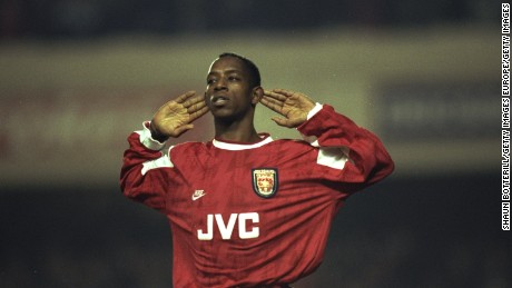 Ian Wright played for Arsenal between 1991 and 1998.