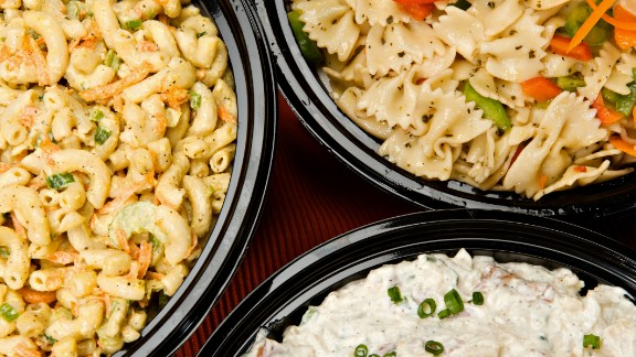 A serving of pasta salad has about 160 calories. You