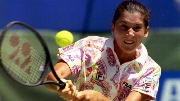 Monica Seles won nine grand slams, her first coming in 1990 when as a 16-year-old she beat Steffi Graf.