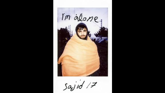 """Sajid, 17, wrote, """"I'm alone."""""""