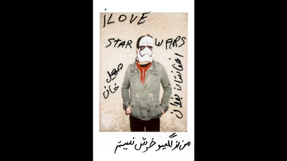 """""""I love Star Wars,"""" wrote Soheil Khan, who is from Baghdad, Afghanistan. The translation of the rest, as he explained to Schmitz, was """"I'm empty inside."""""""