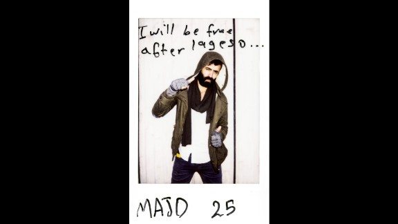 """""""I will be free after Lageso,"""" wrote Majd, 25."""