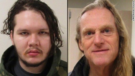 Anthony Garver, left, and Mark Alexander Adams escaped a psychiatric hospital on Wednesday. Adams was caught the next day. Garver was captured Friday near his parents' home after they alerted police.