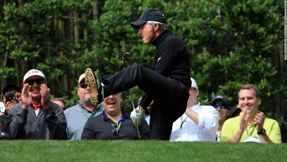 Legendary South African golfer Gary Player was one of nine players to card holes-in-one during the annual Par 3 Contest at Augusta, the traditional curtain-raiser for the Masters. Nine-time major winner Player sunk his ace on the seventh hole, and celebrated accordingly.