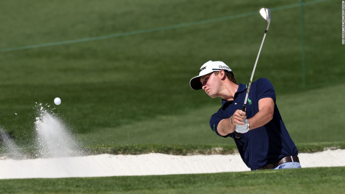 American Smylie Kaufman, a Masters debutant, had more luck in the Par 3 Contest than he did in his practice round. He found the hole -- not a bunker --at the eighth.