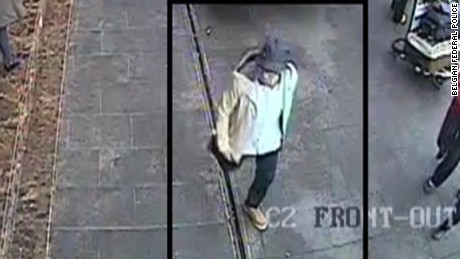 Police say this image shows a suspect in the March 22 bombings walking from the Brussels Airport.