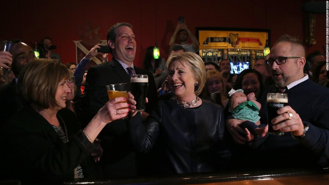 Ronald Reagan Drinking A Beer