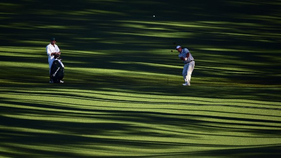 Steven Bowditch plays his second shot on hole No. 2 on Thursday.