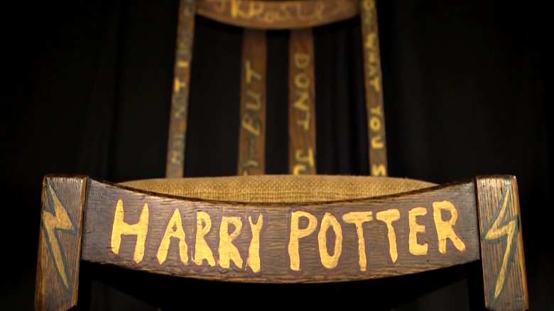 The $400,000 Harry Potter chair JK Rowling wrote on