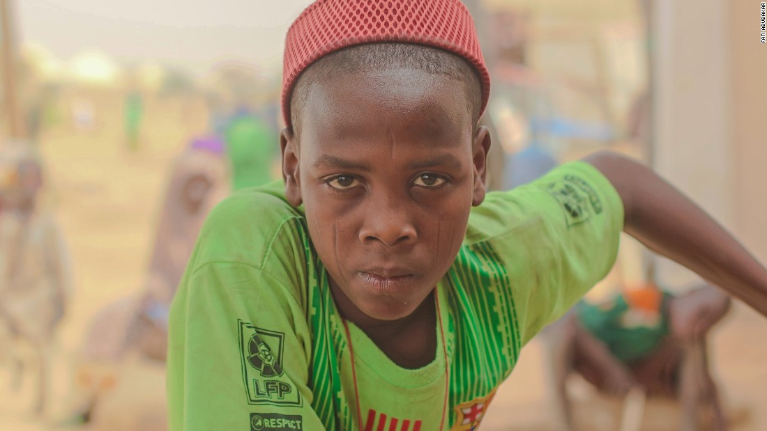 "This Fati Abubakar portrait shows a child, Ibrahim, who lost contact with his parents due to the Boko Haram crisis. <a href=""https://edition.cnn.com/2016/04/11/africa/fati-abubakar-boko-haram-portraits/index.html"" target=""_blank"">Read more</a> on Abubakar's work with victims of Boko Haram in Maiduguri."