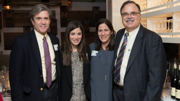 Kevin Foskett, left, Kramer-Golinkoff and her parents work together on Emily's Entourage.