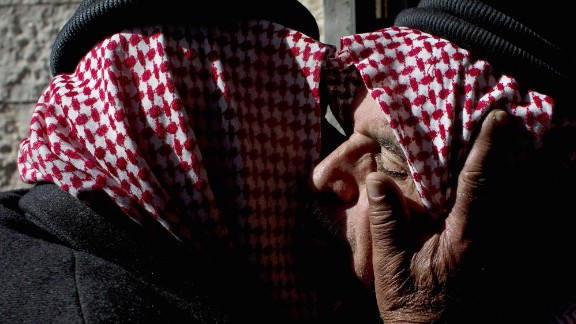 """Safi al-Kasasbeh, right, receives condolences from tribal leaders at his home village near Karak, Jordan, on February 4, 2015. Al-Kasasbeh's son, <a href=""""http://www.cnn.com/2015/02/03/world/gallery/jordanian-pilot-reaction/index.html"""" target=""""_blank"""">Jordanian pilot Moath al-Kasasbeh,</a> was burned alive in a video that was released by ISIS militants. Jordan is one of a handful of Middle Eastern nations taking part in the U.S.-led military coalition against ISIS."""