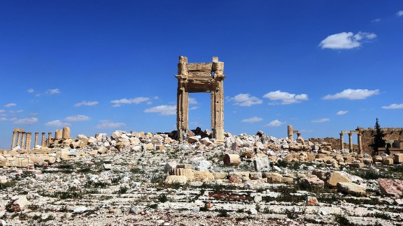 In May 2015, ISIS took control of Palmyra, Syria, and began to destroy ancient ruins and artifacts. The Temple of Bel is seen here after Syrian forces reclaimed the city in March 2016. ISIS has also destroyed other cultural sites in Syria and Iraq.