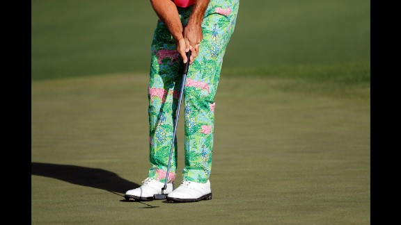 Billy Horschel putts on the second green Friday.