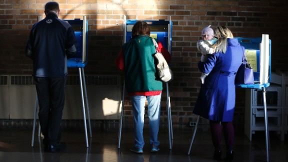 Milwaukee voters cast their ballots in Wisconsin