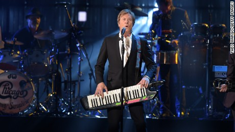 NEW YORK, NEW YORK - APRIL 08:  Inductee Robert Lamm of Chicago performs onstage at the 31st Annual Rock And Roll Hall Of Fame Induction Ceremony at Barclays Center of Brooklyn on April 8, 2016 in New York City.  (Photo by Theo Wargo/Getty Images)