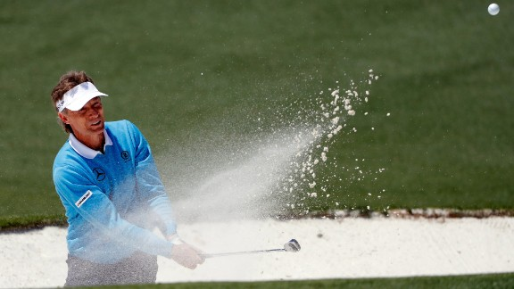 Bernhard Langer, a two-time Masters champion, was one of only five players who shot a round under par on Saturday. The 58-year-old turned back the clock with a 2-under 70, and he was two strokes off the lead at the end of the day.