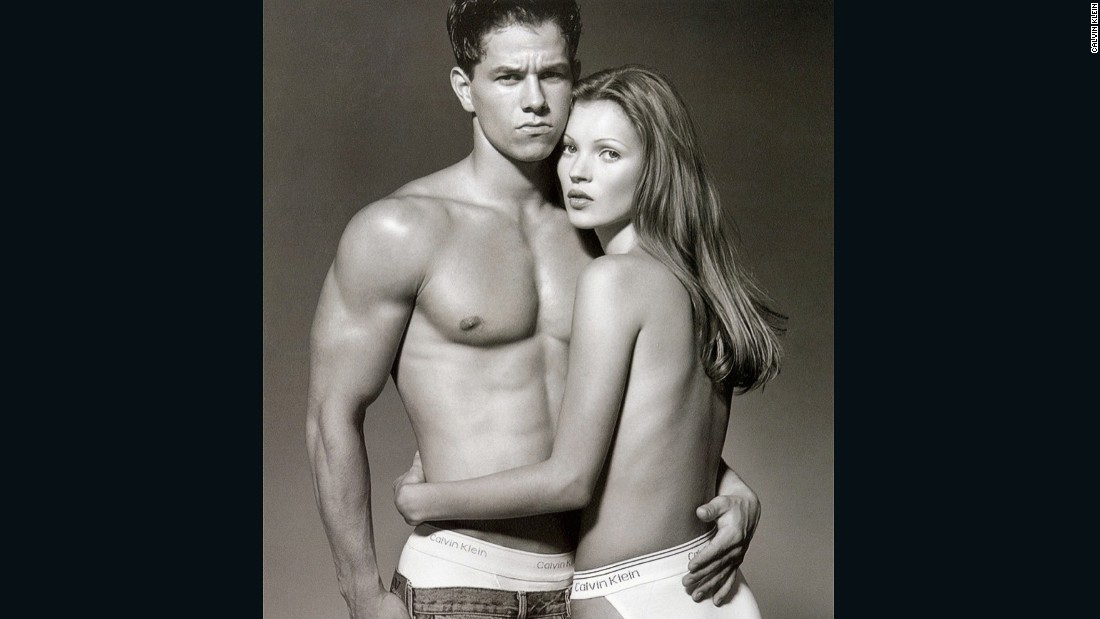 Mark Wahlberg and Kate Moss caused controversy with their suggestive advertising campaign for Calvin Klein in the early 90s.