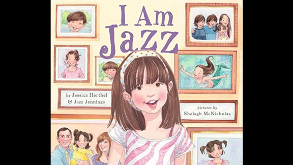 """""""I Am Jazz,"""" by Jessica Herthel and Jazz Jennings, is the story of a transgender child and her challenges. The book is drawn from a documentary that ran on the Oprah Winfrey Network and is now a show on TLC. Challengers said the book was """"inaccurate"""" and involved homosexuality and sex education, among other aspects."""