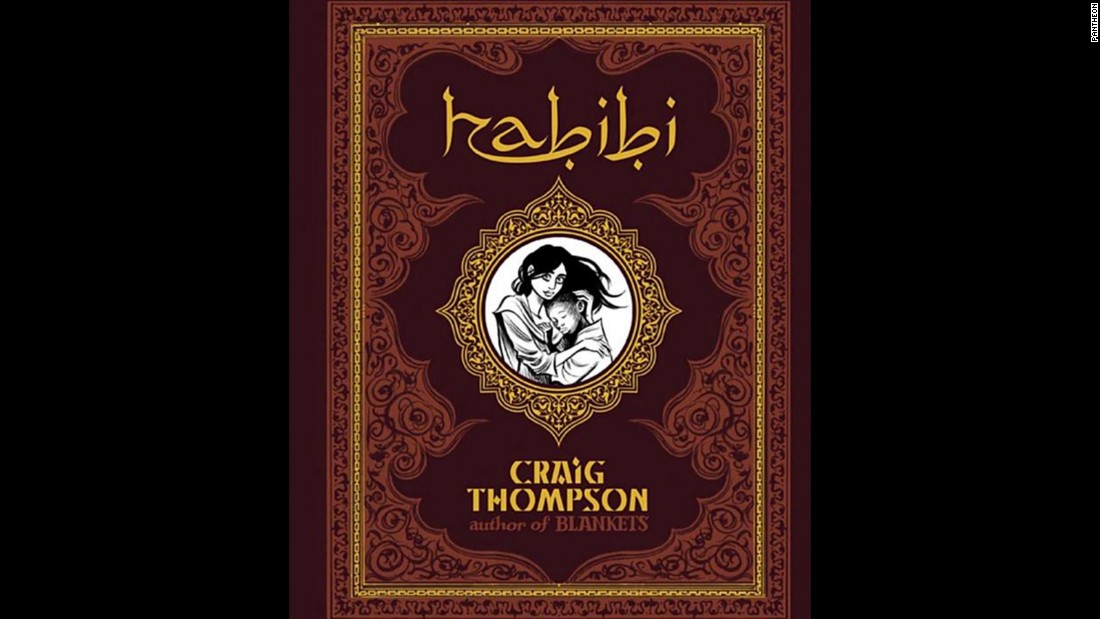 """Habibi,"" a graphic novel by Craig Thompson, includes a focus on Islamic culture and is about two slave children. It was challenged for nudity and sexual explicitness."