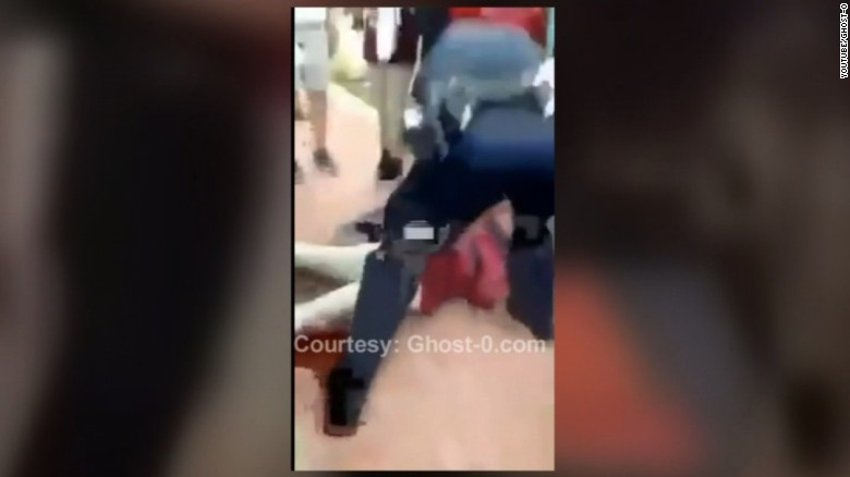 Police officers slamming