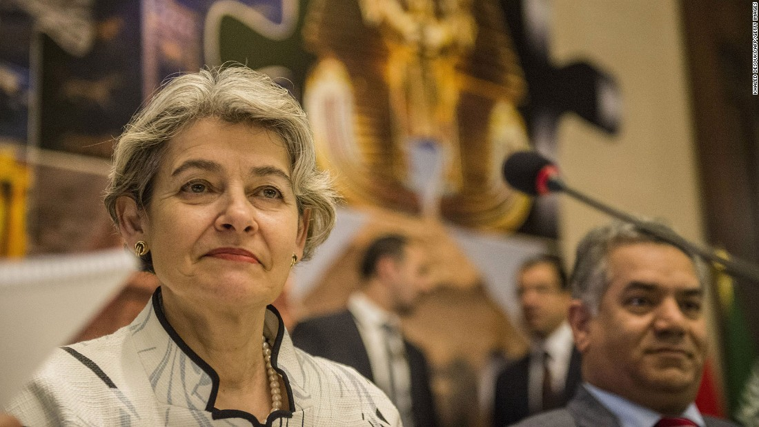 Irina Bokova is in her second term as director general of UNESCO, the United Nations' branch for educational and cultural heritage. Before that, she was Bulgaria's ambassador to France and Monaco, and served as the chief for political and legal affairs at Bulgaria's Mission to the United Nations in New York.