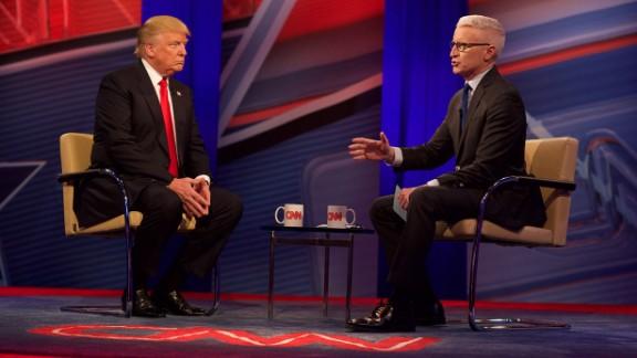 Donald Trump attends CNN