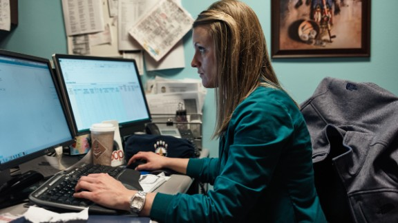 Jami Larson, 32, focuses on diabetes among Native Americans in Pierre, South Dakota.