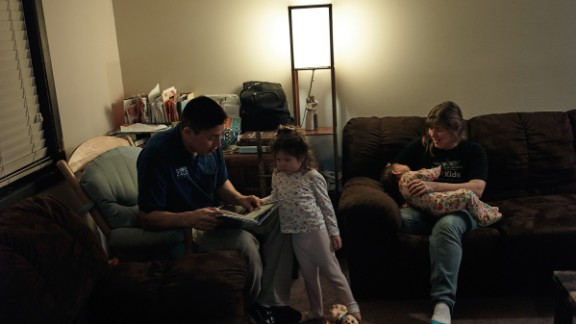 Joe and his family at their home in Sioux Falls.