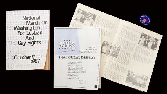 In 1987, the inaugural display of the Names Project, otherwise known as the AIDS Memorial Quilt, took up two city blocks and included 1,920 panels memorializing more than 2,000 people who lost their lives to AIDS. It went on display during the 1987 National March on Washington for Lesbian and Gay Rights, which was the largest gathering of its kind. More than 200,000 people marched, demanding equal rights, legal recognition of same-sex relationships, a legal end to discrimination, an increase in funding to fight AIDS and an end to discrimination against people living with HIV and AIDS. Groups from around the country worked for 15 months and held the final organizational meeting in Atlanta. Many Atlanta leaders who helped with that march went on to run nonprofits, arts organizations, media groups and to run for elected office. The Names Project Foundation is now based in Atlanta.