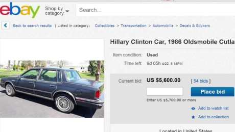 buy hillary clinton's old car moos pkg erin _00011211