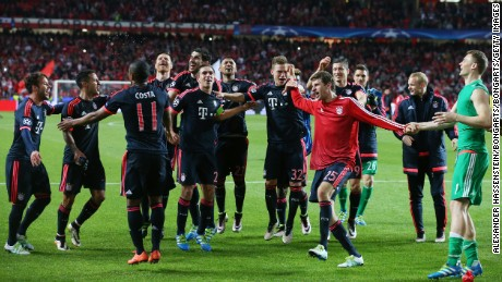 Bayern Munich qualified for its fifth successive semifinal.