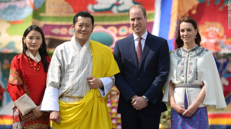 Will and Kate meet the royals of the Himalayas
