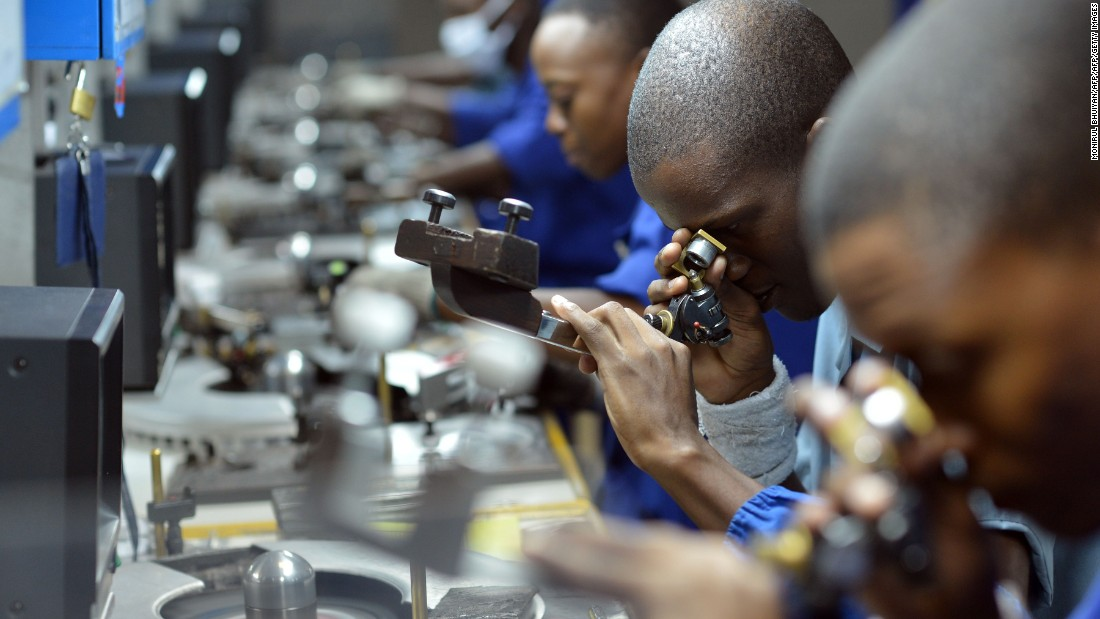 Botswana has sought to counter-act the 'resource curse' effect by building high-skill industries such as diamond polishing, rather than just exporting raw materials.