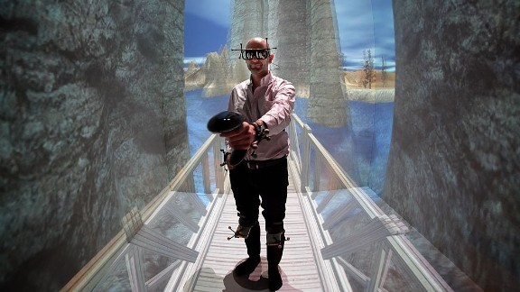 Virtual reality can confuse the eye-brain connection.