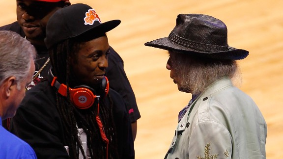 Goldstein is also friends with many entertainers -- like rapper Lil Wayne -- who share a common interest in basketball.