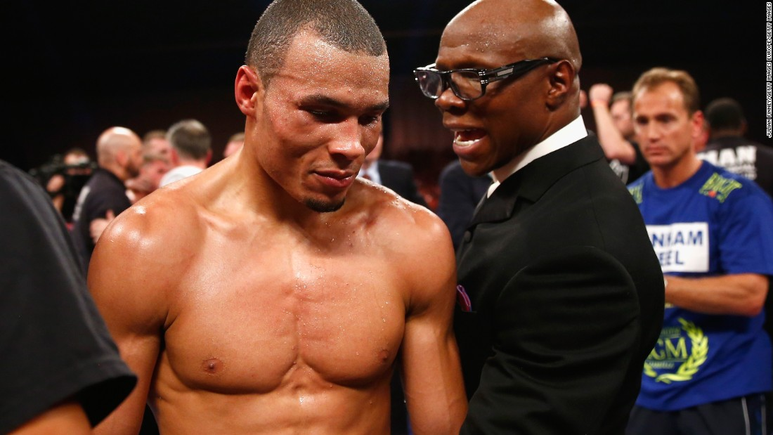 The fight comes 25 years after former world champion boxer Eubank Sr. was also in a fight which landed his opponent Michael Watson in a coma for 40 days. Today, Watson is blind in one eye and needs a full-time carer.