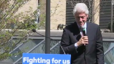 bill clinton sanders supporters shoot third person sot erin_00001125
