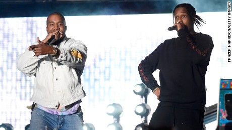 709198246c56 Hip-hop artist Kanye West and rapper A AP Rocky perform onstage during day