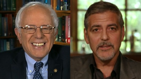Sanders: Clooney 'honest enough' to call out big money
