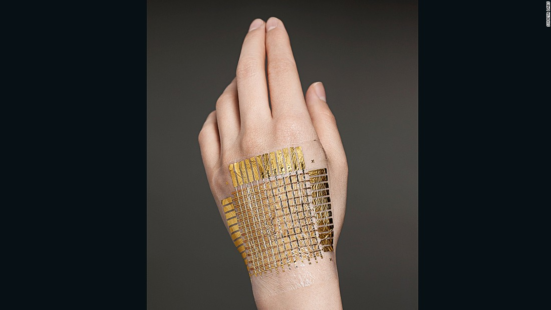 Someya says one of his main aims is to make his e-skin comfortable to the point that people forget they are wearing it.