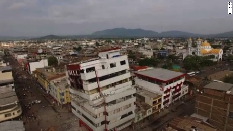 Rescuers in Ecuador raced to dig out people trapped under the rubble of homes and businesses on Sunday, following a powerful 7.8-magnitude earthquake that killed at least 233. DRONE IMAGES of destruction in Portoviejo