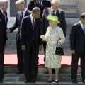 Queen elizabeth II and President Obama