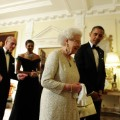 Obamas and Queen Elizabeth II
