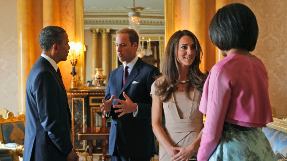 The President, the first lady and the Duke and Duchess of Cambridge meet in London
