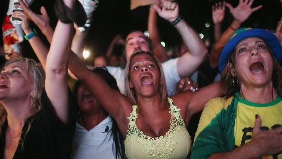Pro-impeachment supporters celebrate after politicians vote to approve the motion to impeach Rousseff. The motion will now be brought before the Senate, the Brazilian congress