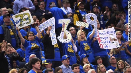 The dominant Golden State Warriors finished with an all-time best 73-9 record.