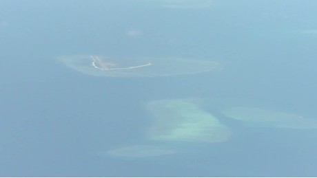 U.S. protests China landing aircraft on disputed island
